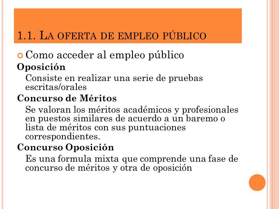 1.1. La oferta de empleo público