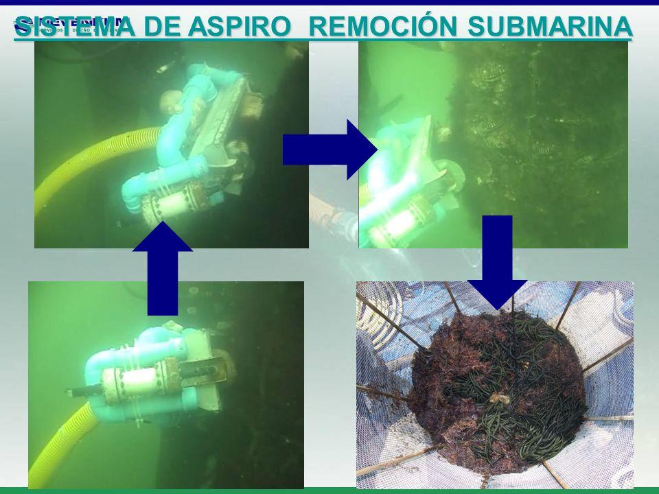 SISTEMA DE ASPIRO REMOCIÓN SUBMARINA