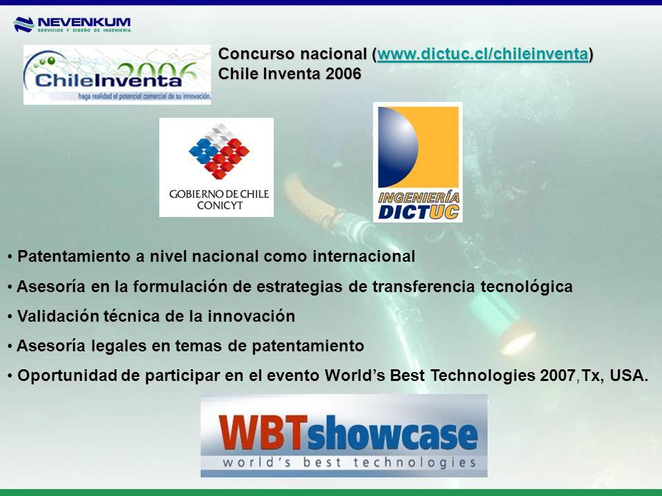 Concurso nacional (www.dictuc.cl/chileinventa)
