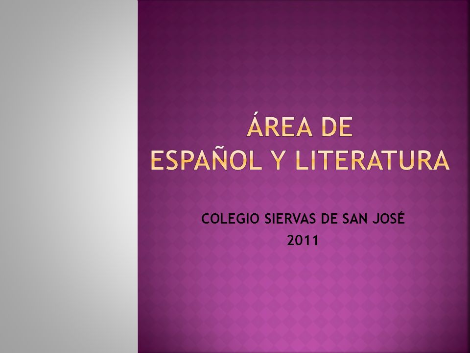 ÁREA DE ESPAÑOL Y lITERATURA