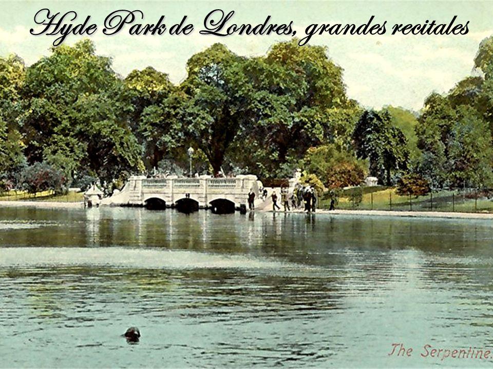 Hyde Park de Londres, grandes recitales