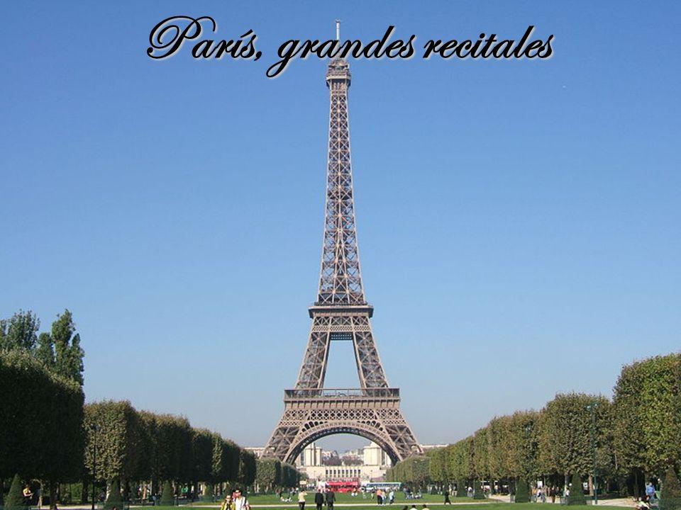 París, grandes recitales