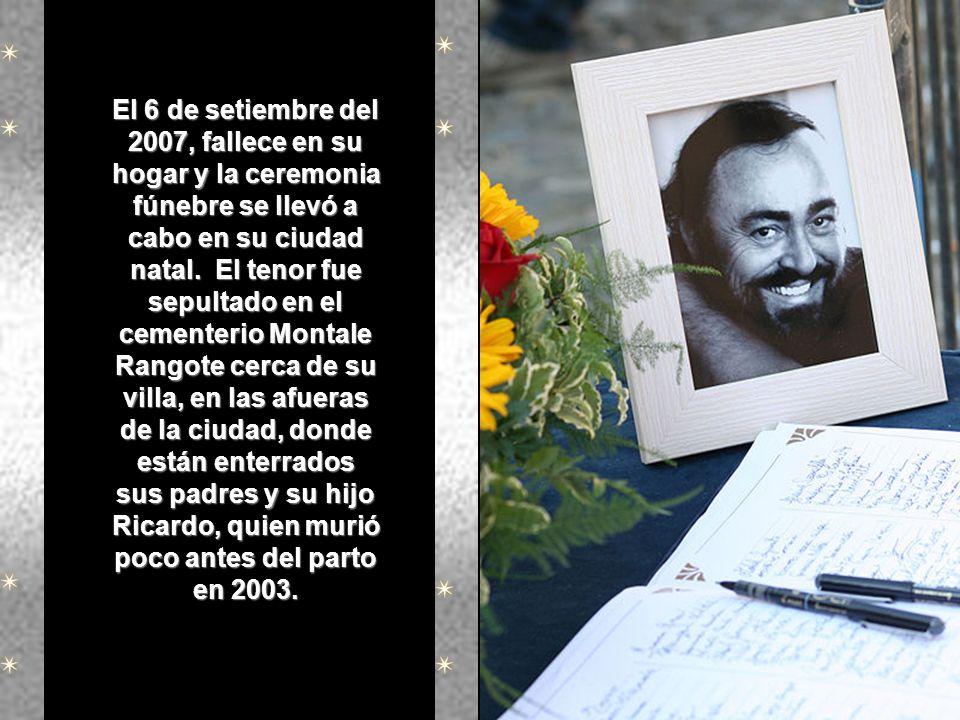 El 6 de setiembre del 2007, fallece en su hogar y la ceremonia fúnebre se llevó a cabo en su ciudad natal.