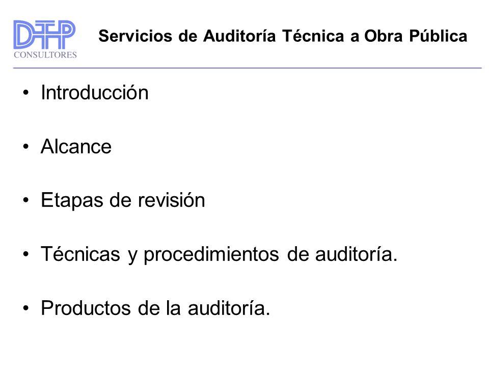 Servicios de Auditoría Técnica a Obra Pública