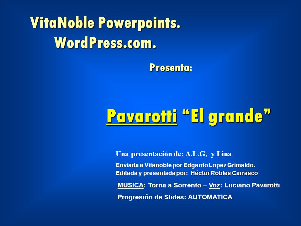 VitaNoble Powerpoints. WordPress.com. Presenta: