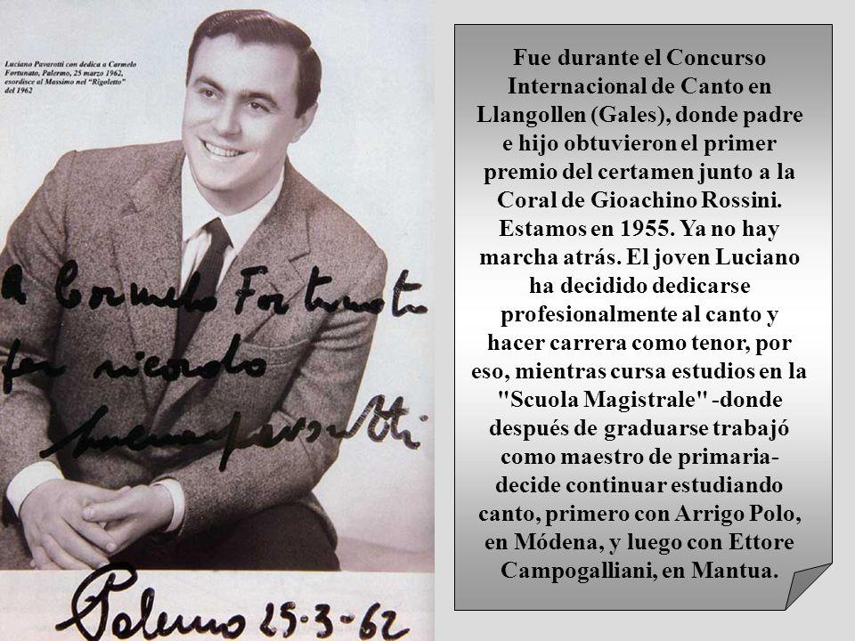Fue durante el Concurso Internacional de Canto en Llangollen (Gales), donde padre e hijo obtuvieron el primer premio del certamen junto a la Coral de Gioachino Rossini.