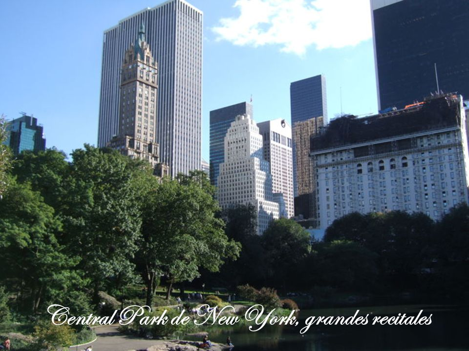 Central Park de New York, grandes recitales
