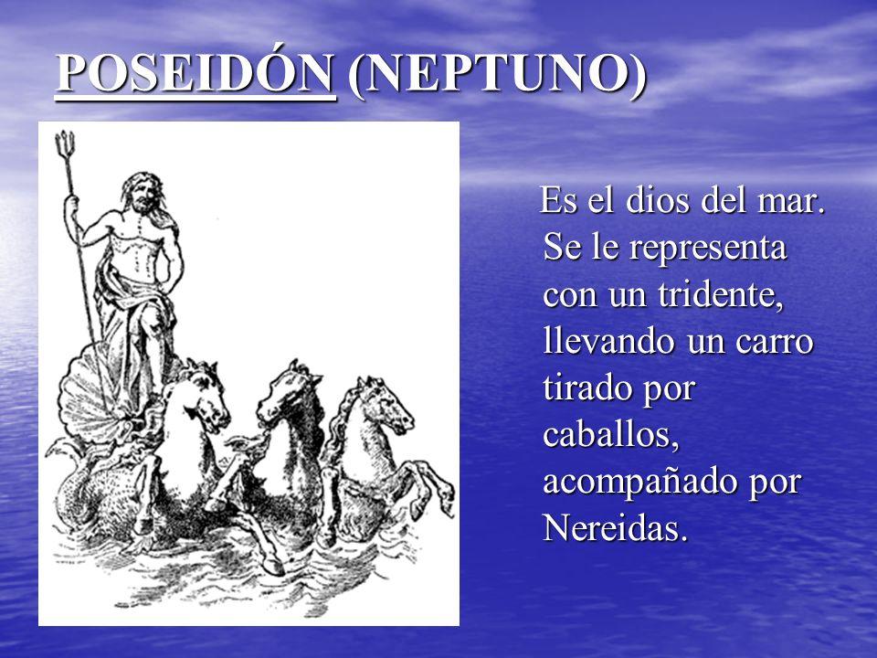 POSEIDÓN (NEPTUNO) Es el dios del mar.