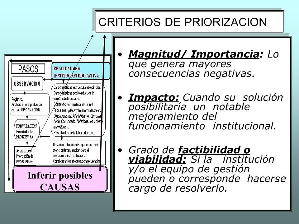 CRITERIOS DE PRIORIZACION