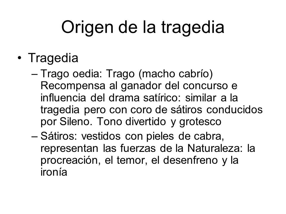 Origen de la tragedia Tragedia
