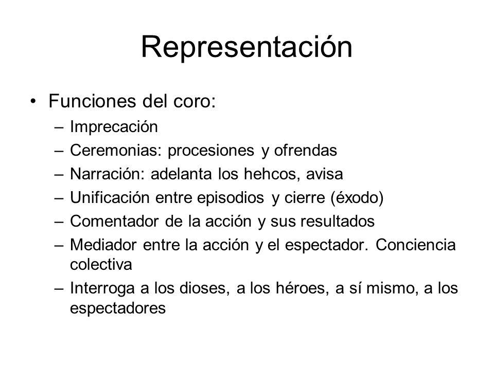 Representación Funciones del coro: Imprecación
