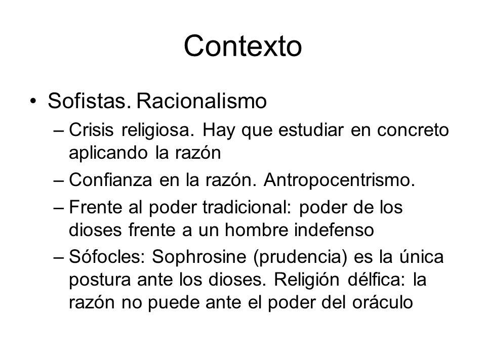 Contexto Sofistas. Racionalismo
