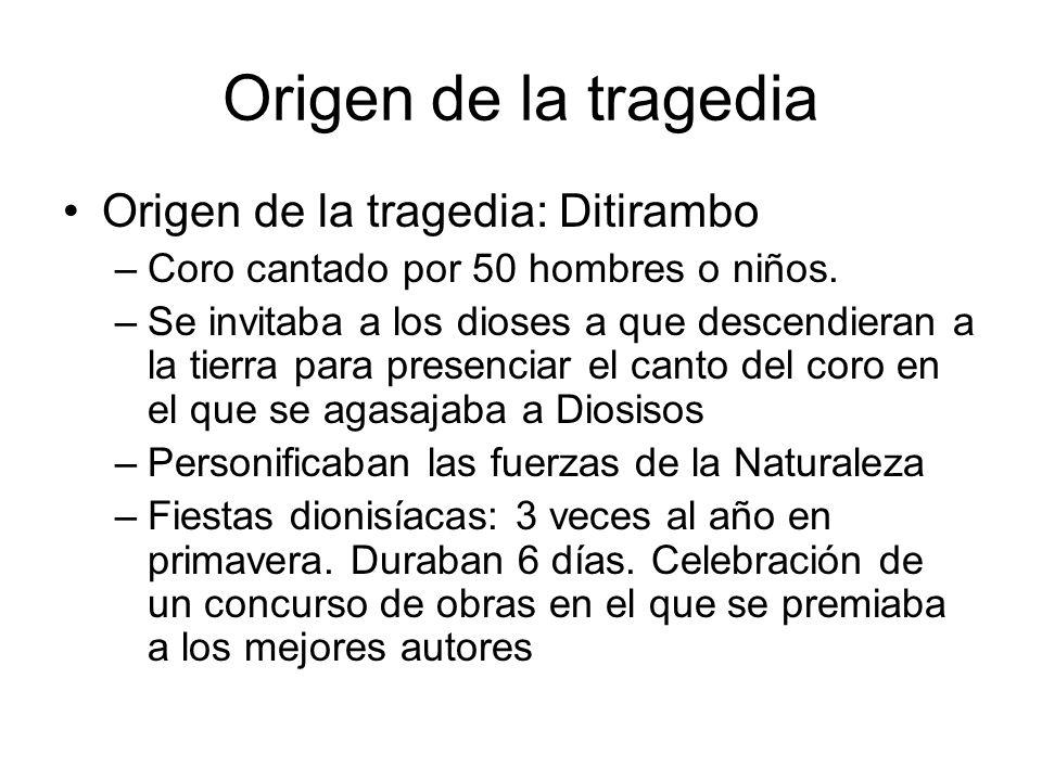 Origen de la tragedia Origen de la tragedia: Ditirambo