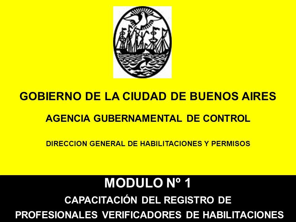 MODULO Nº 1 GOBIERNO DE LA CIUDAD DE BUENOS AIRES
