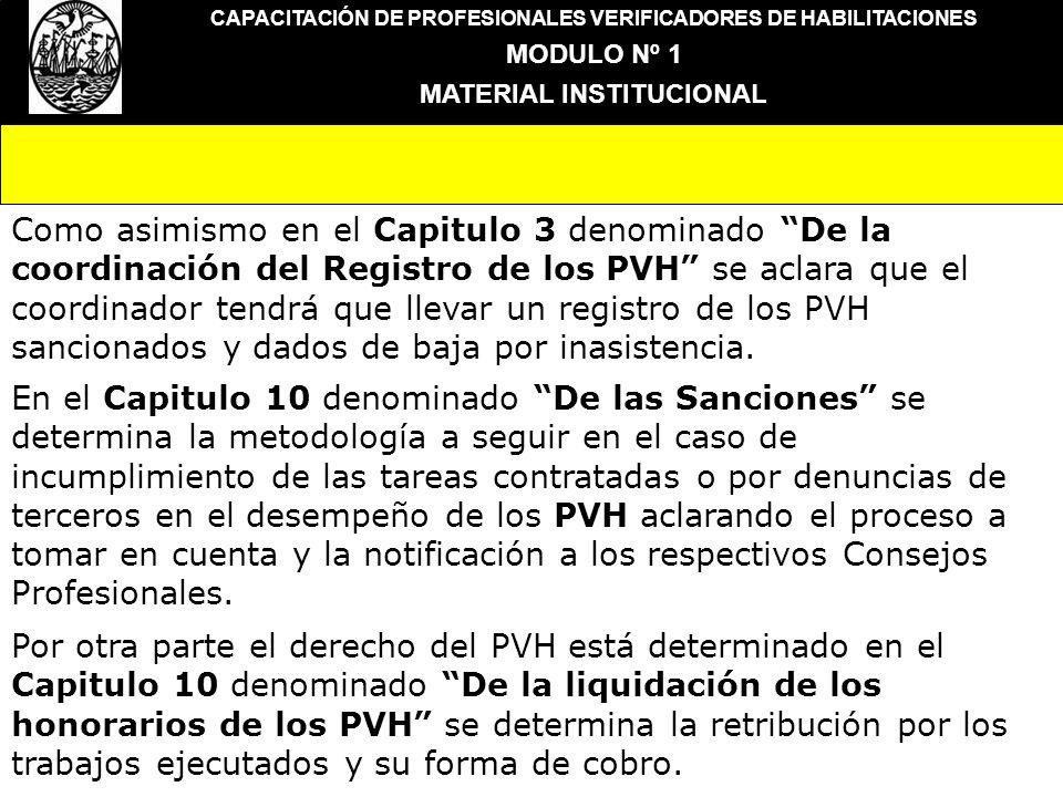 CAPACITACIÓN DE PROFESIONALES VERIFICADORES DE HABILITACIONES