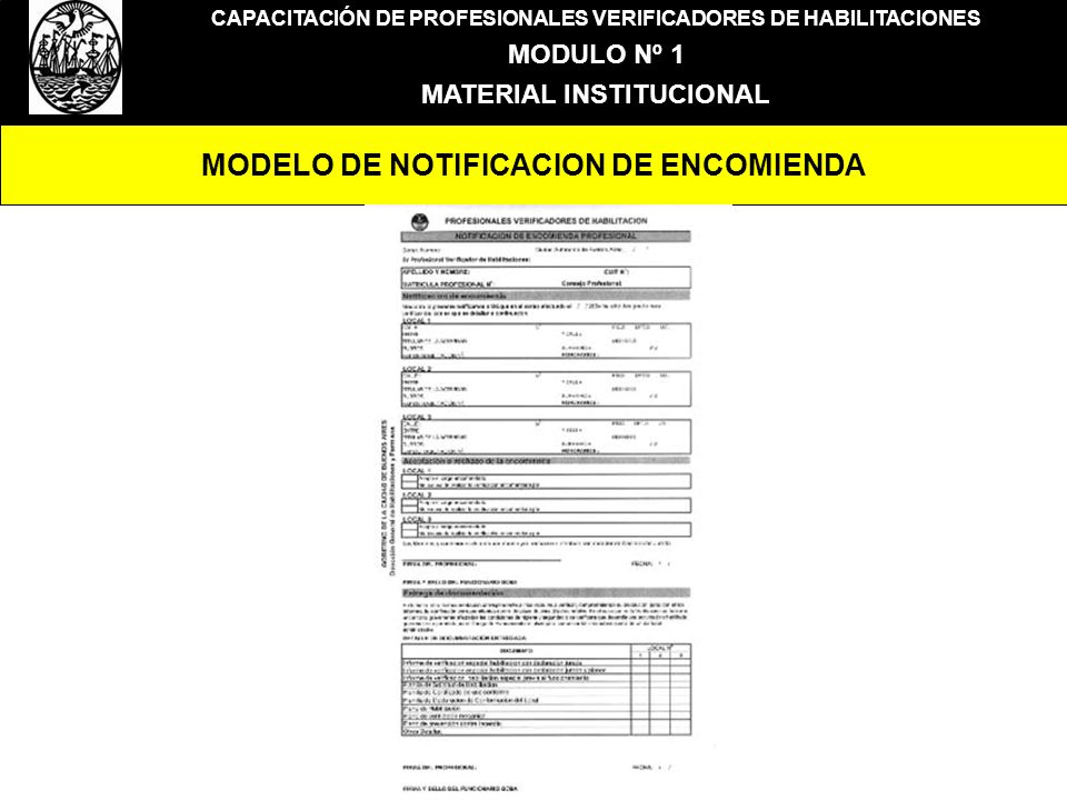 MODELO DE NOTIFICACION DE ENCOMIENDA