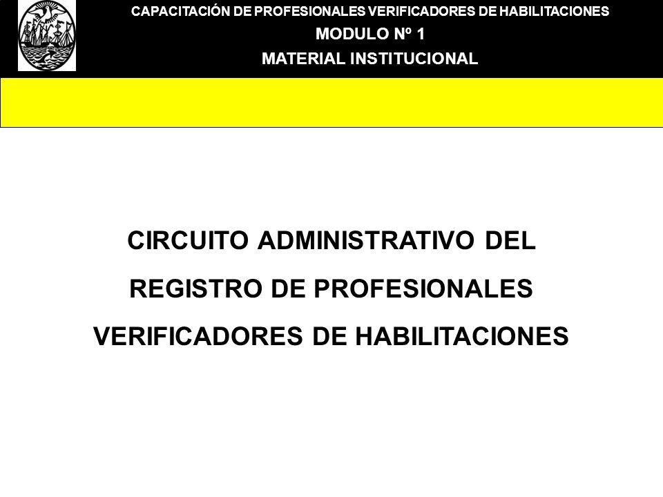 CIRCUITO ADMINISTRATIVO DEL REGISTRO DE PROFESIONALES