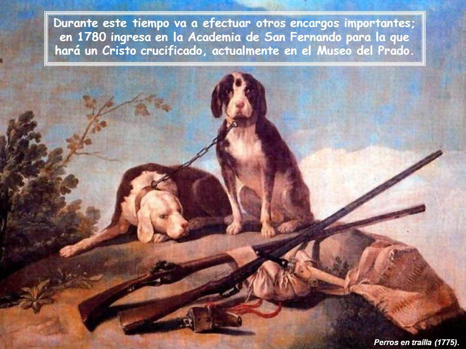 Durante este tiempo va a efectuar otros encargos importantes; en 1780 ingresa en la Academia de San Fernando para la que hará un Cristo crucificado, actualmente en el Museo del Prado.