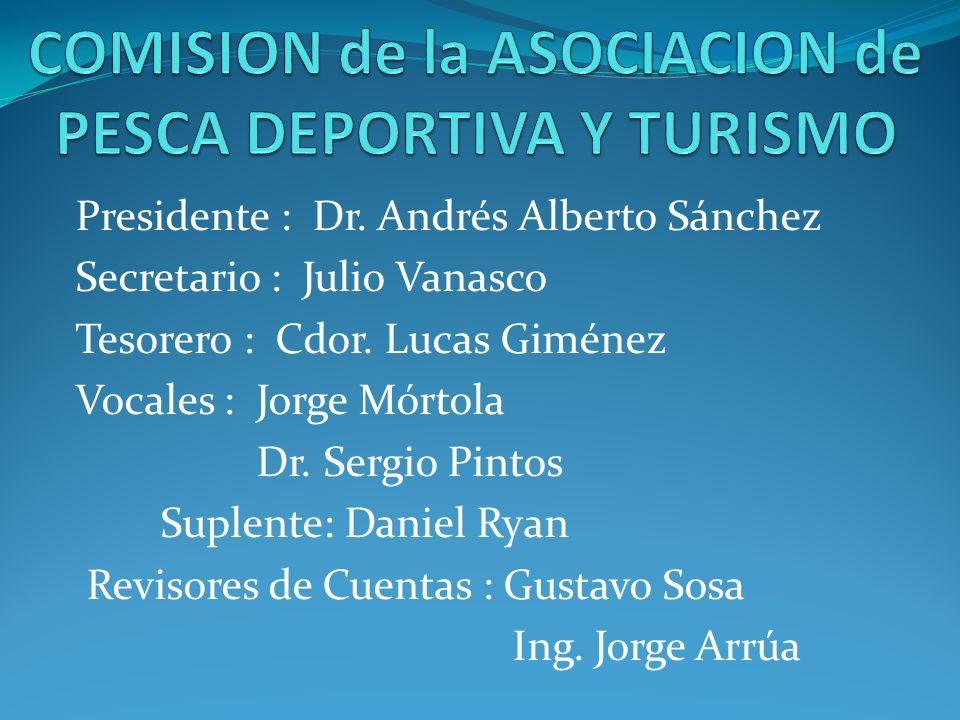 COMISION de la ASOCIACION de PESCA DEPORTIVA Y TURISMO