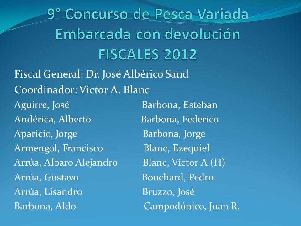 9° Concurso de Pesca Variada Embarcada con devolución FISCALES 2012