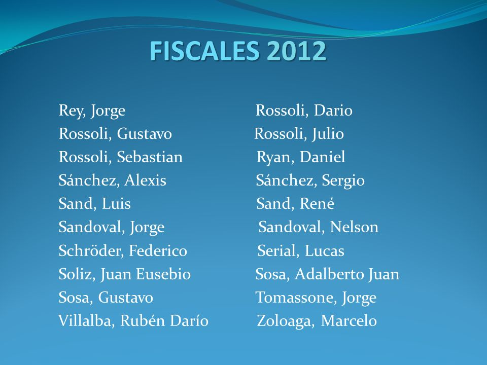 FISCALES 2012