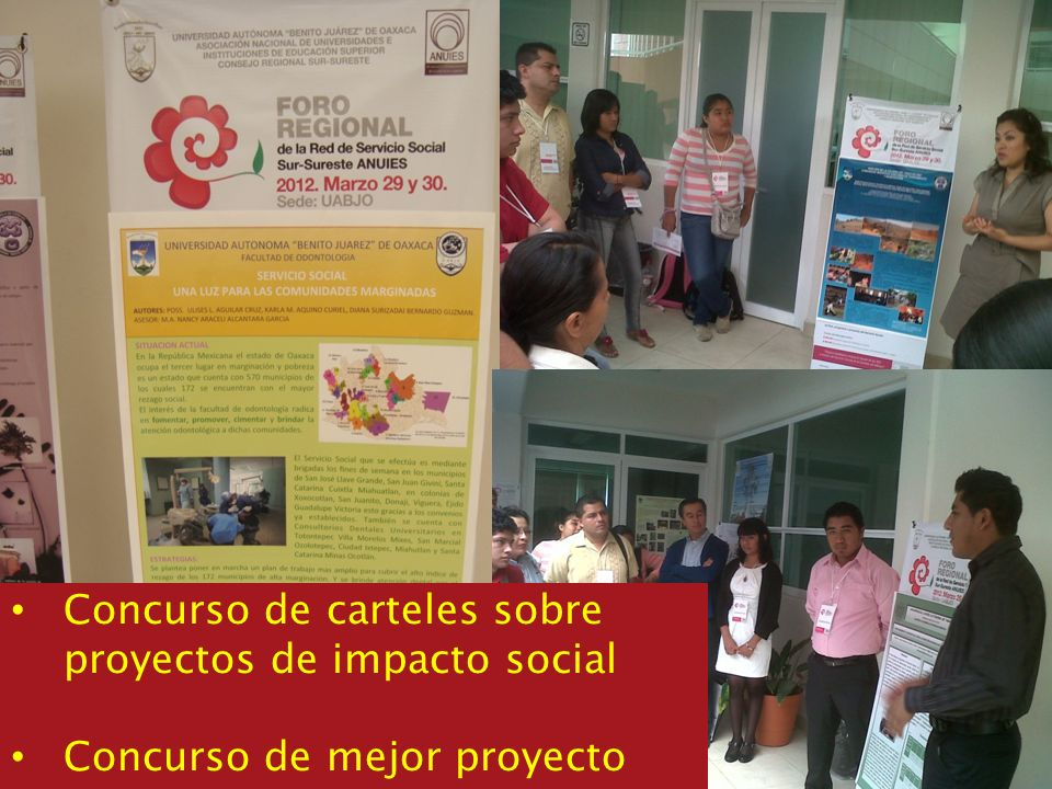 Concurso de carteles sobre proyectos de impacto social