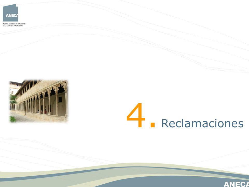 4. Reclamaciones 30