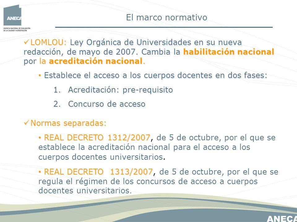 El marco normativo
