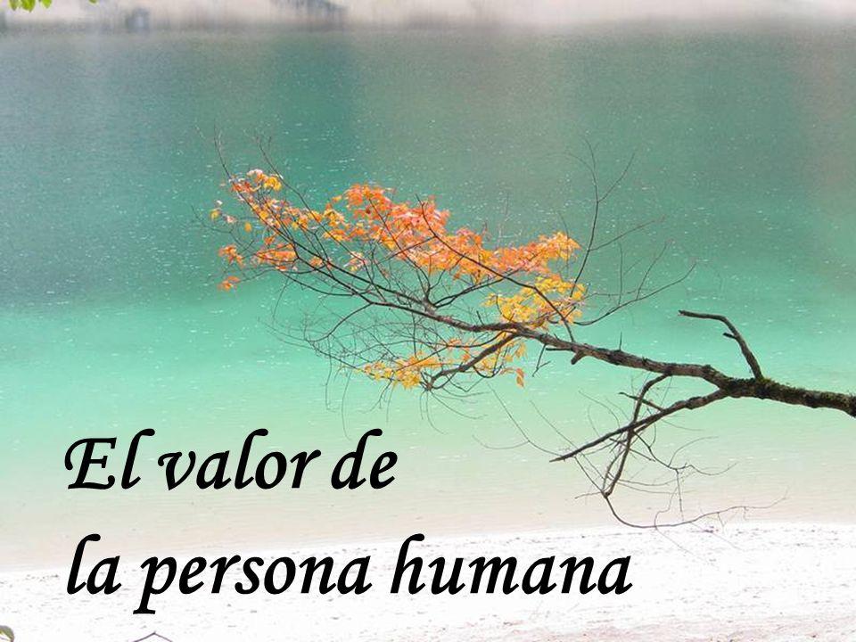 El valor de la persona humana