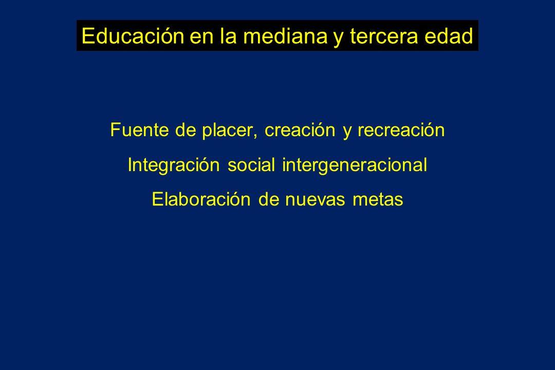 Educación en la mediana y tercera edad