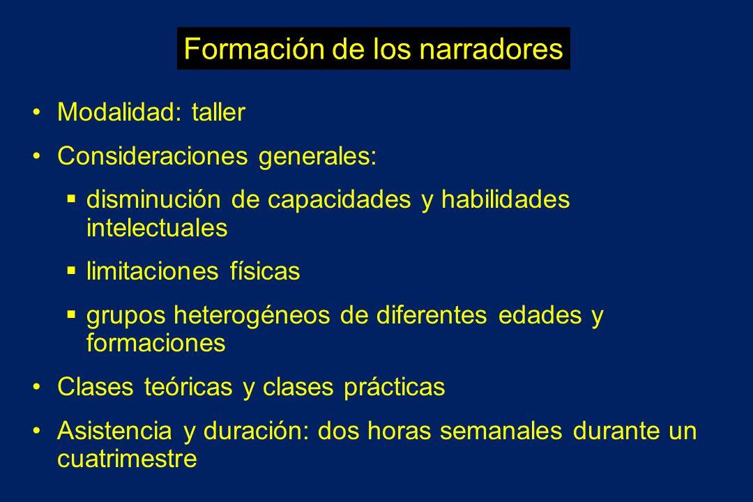 Formación de los narradores