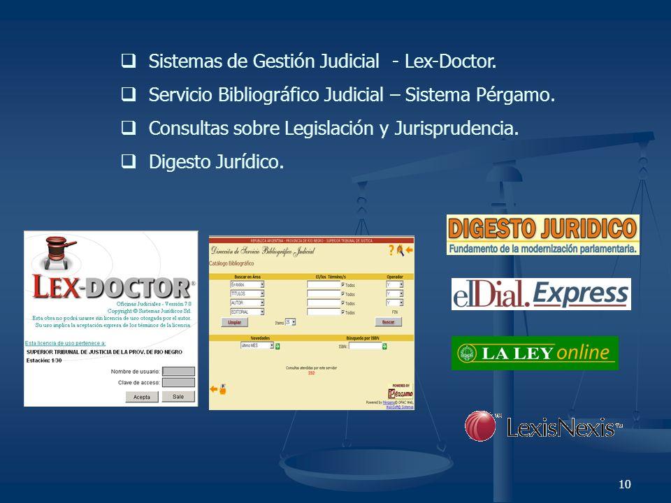 Sistemas de Gestión Judicial - Lex-Doctor.