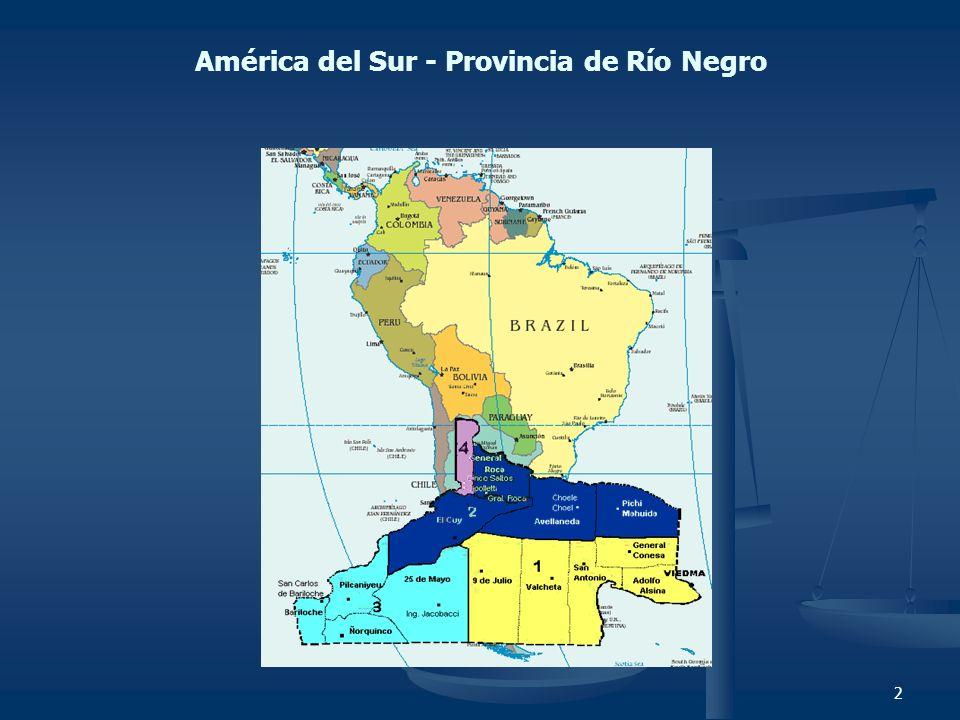América del Sur - Provincia de Río Negro