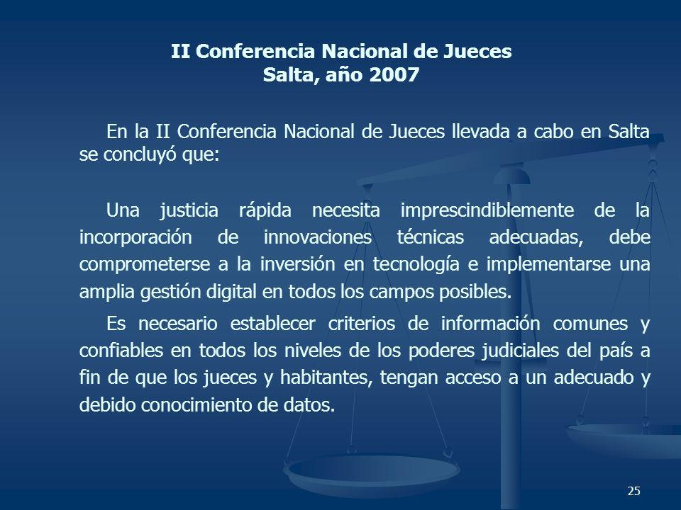 II Conferencia Nacional de Jueces Salta, año 2007