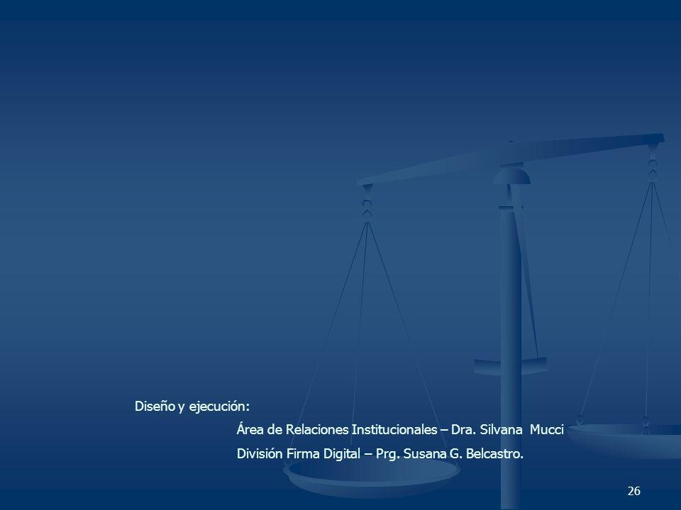 Diseño y ejecución: Área de Relaciones Institucionales – Dra.