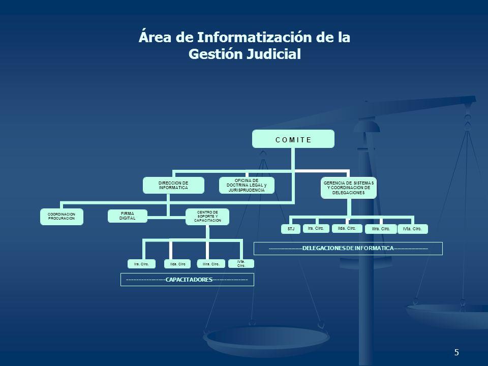 Área de Informatización de la Gestión Judicial