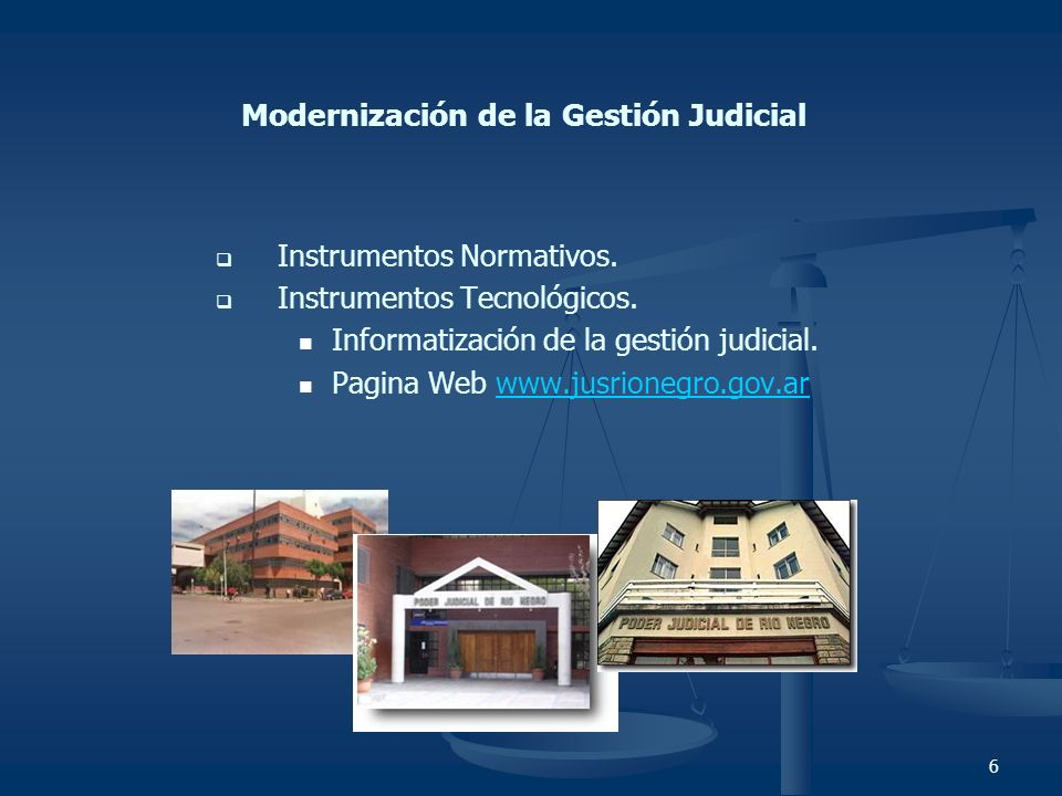 Modernización de la Gestión Judicial