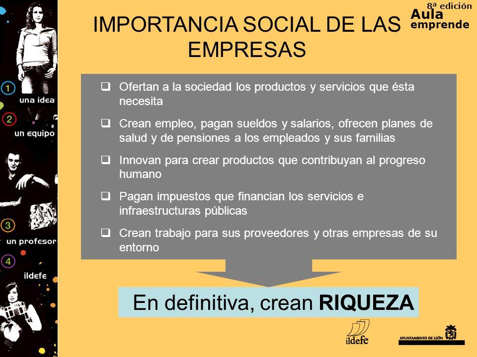 IMPORTANCIA SOCIAL DE LAS