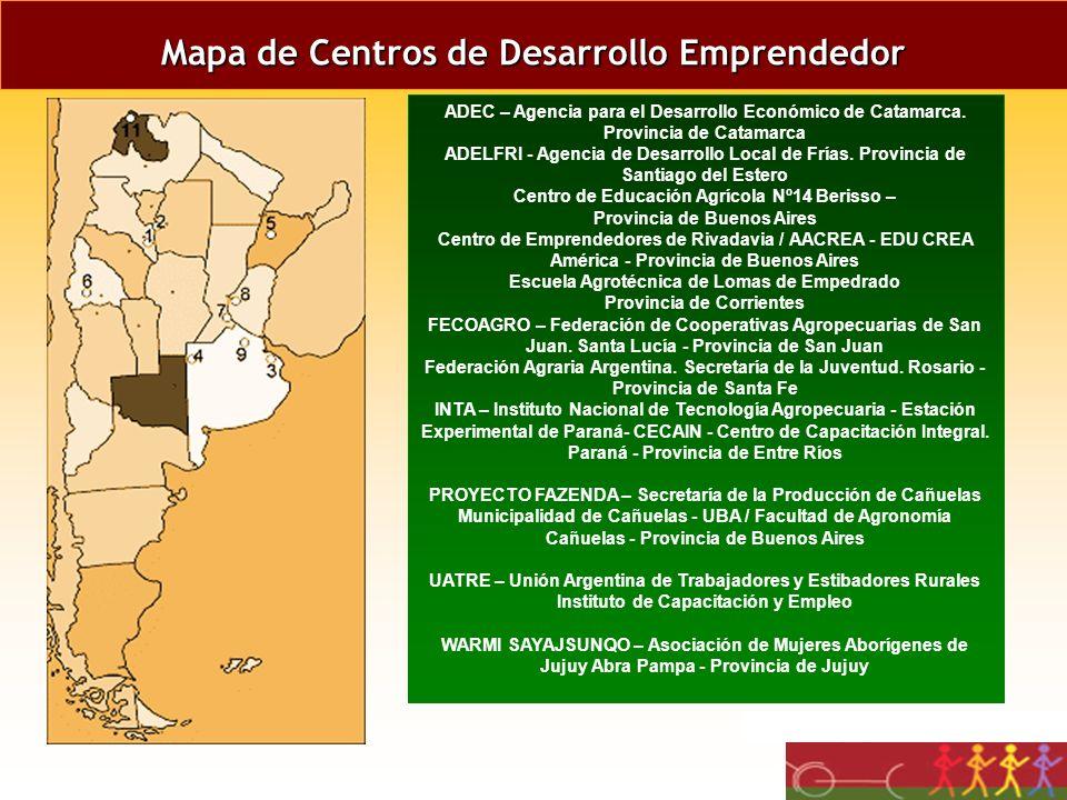 Mapa de Centros de Desarrollo Emprendedor
