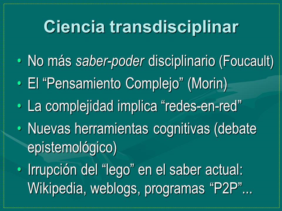 Ciencia transdisciplinar