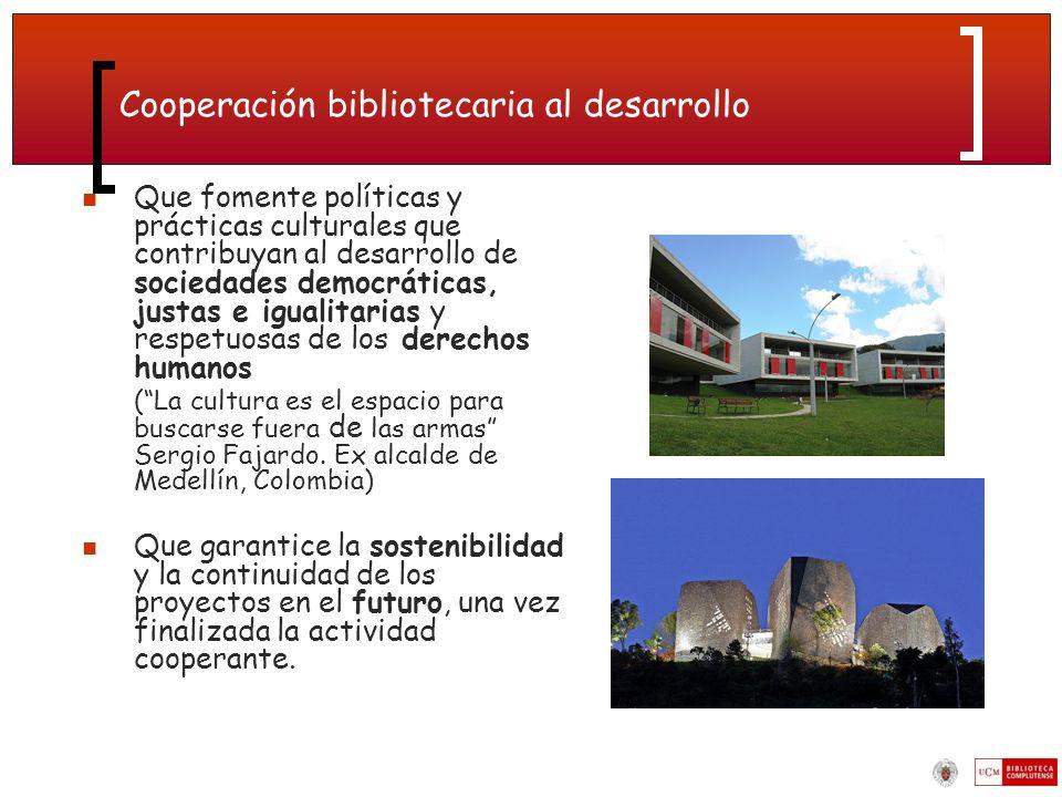Cooperación bibliotecaria al desarrollo