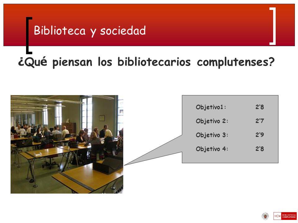 ¿Qué piensan los bibliotecarios complutenses