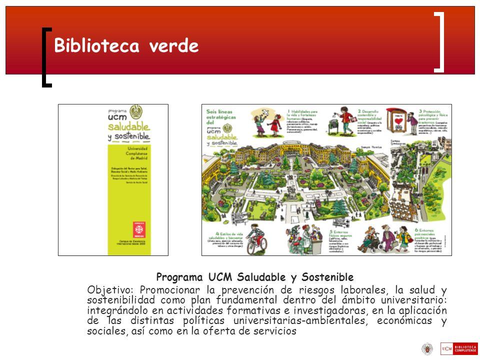 Programa UCM Saludable y Sostenible