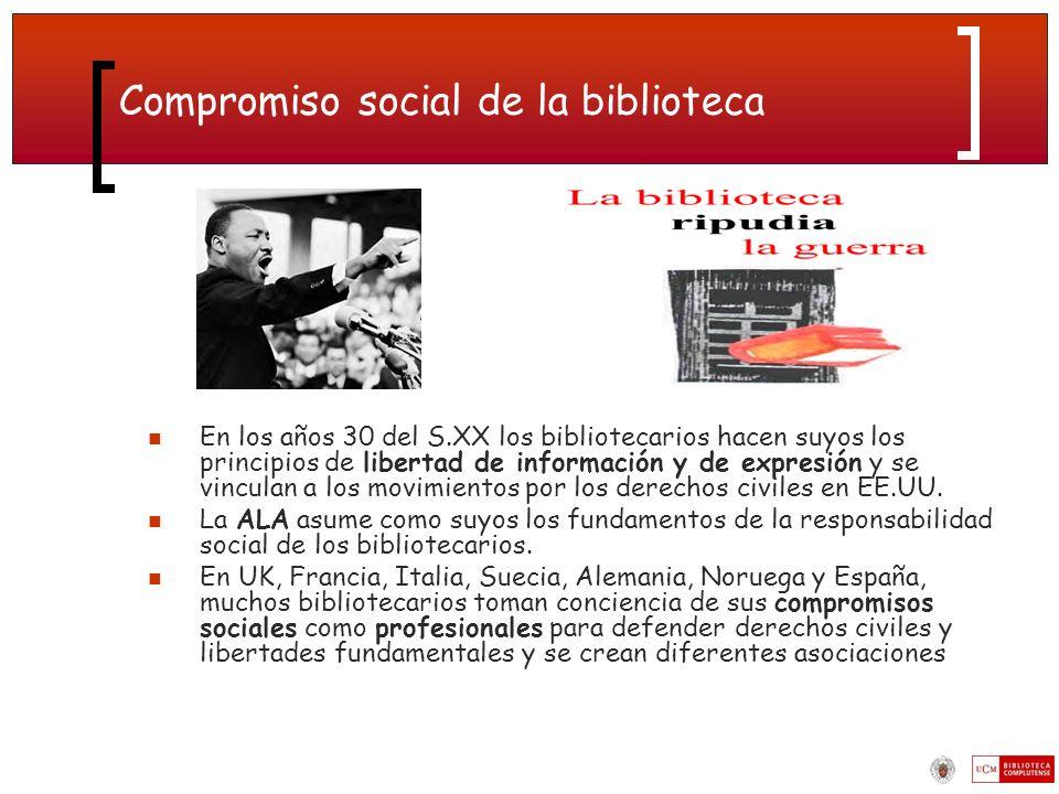 Compromiso social de la biblioteca