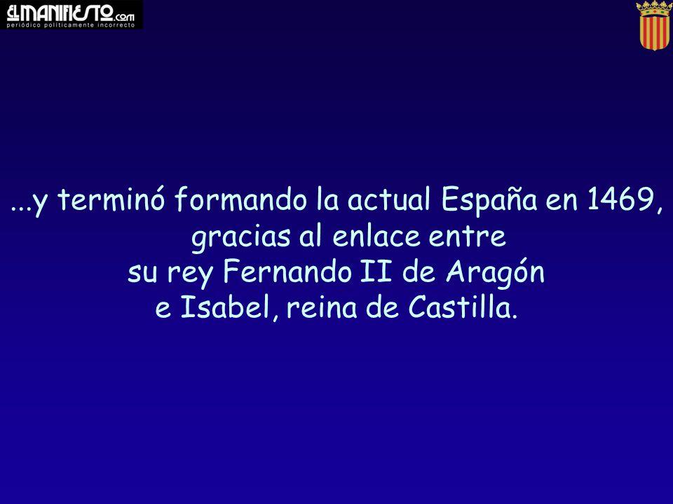 su rey Fernando II de Aragón e Isabel, reina de Castilla.