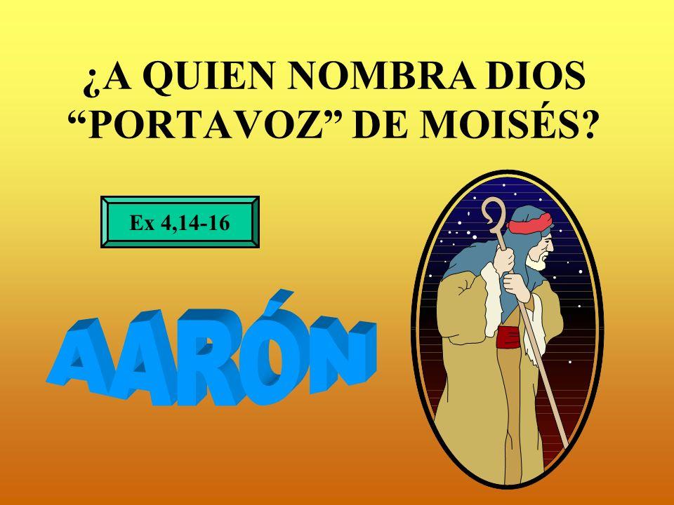 ¿A QUIEN NOMBRA DIOS PORTAVOZ DE MOISÉS