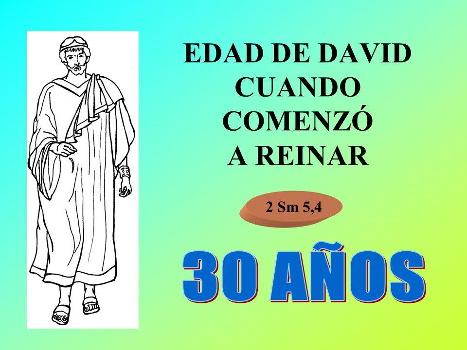 EDAD DE DAVID CUANDO COMENZÓ A REINAR