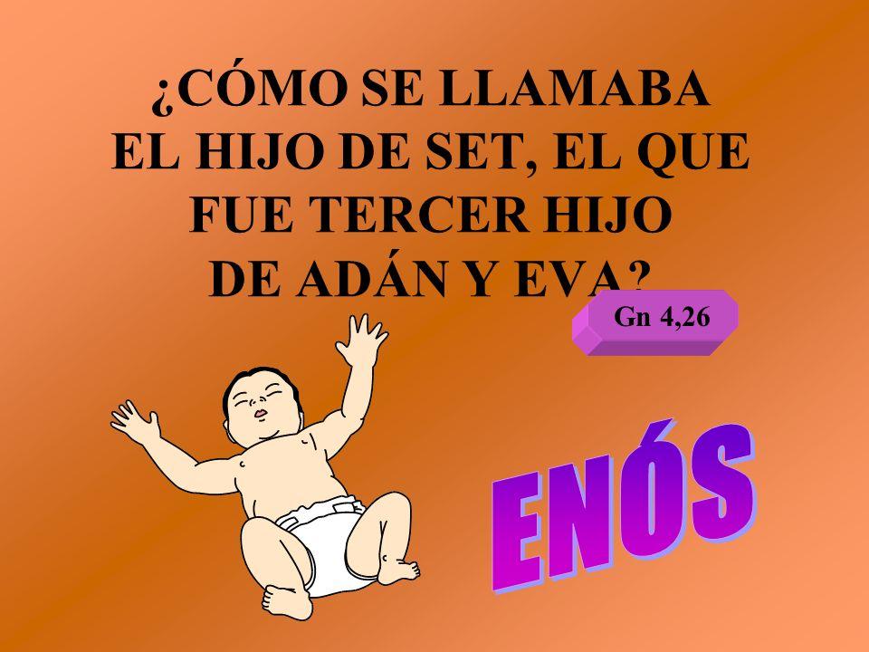 ¿CÓMO SE LLAMABA EL HIJO DE SET, EL QUE FUE TERCER HIJO DE ADÁN Y EVA