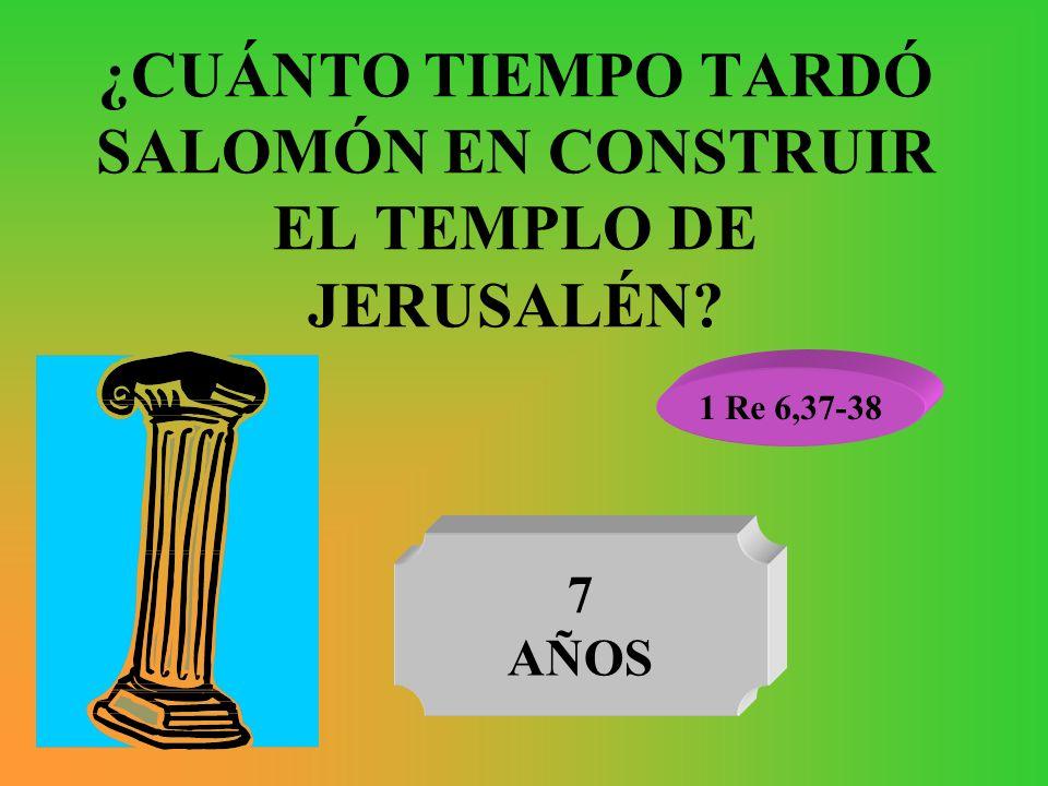 ¿CUÁNTO TIEMPO TARDÓ SALOMÓN EN CONSTRUIR EL TEMPLO DE JERUSALÉN