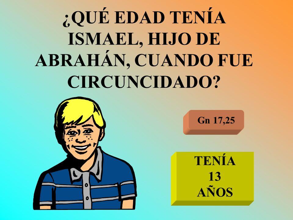 ¿QUÉ EDAD TENÍA ISMAEL, HIJO DE ABRAHÁN, CUANDO FUE CIRCUNCIDADO